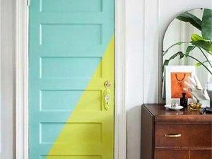 北欧风格拼色实木门装修效果图     多层实木门图片