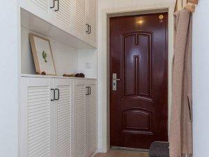 现代风格红色钢木门图片 红色入户门图片
