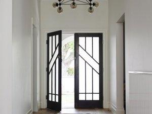 欧式风格双开实木玻璃门装修效果图   入户门图片