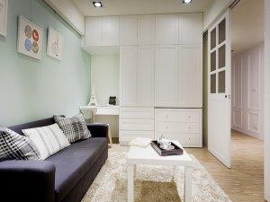客厅推拉玻璃门装修效果图 白色隔断门图片