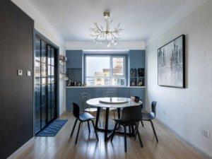 现代风格黑色铝合金推拉门效果图 厨房玻璃门图片