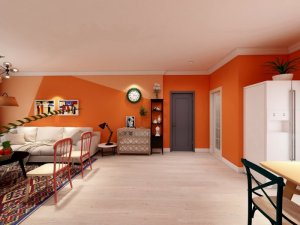 现代风格室内木门装修效果图 灰色木门图片