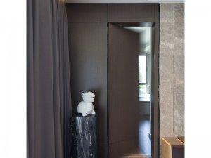 简约隐藏式木门效果图 灰色系室内门图片