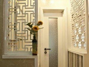 简约白色卫生间玻璃门效果图 小型卫浴门图片