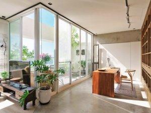 阳光房铝合金玻璃门装修效果图 客厅隔断门图片