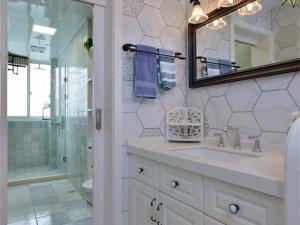 现代美式卫浴装修效果图 玻璃门窗设计图片