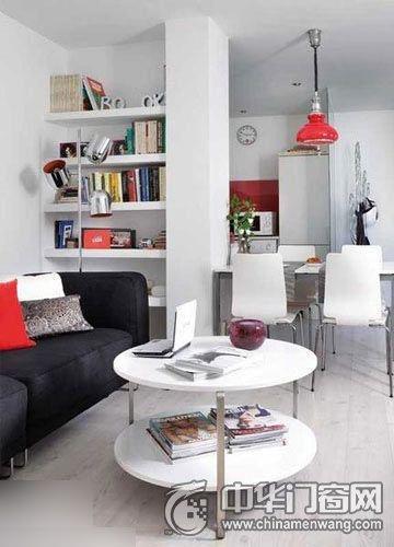 小户型客厅木门效果图,家居空间的另一道风景!