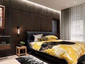 卧室铝包木门窗图片 现代复古门窗装修效果图