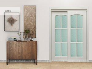展志天华木门双推拉门阳台门厨房门卫生间门玻璃门移门木门定制