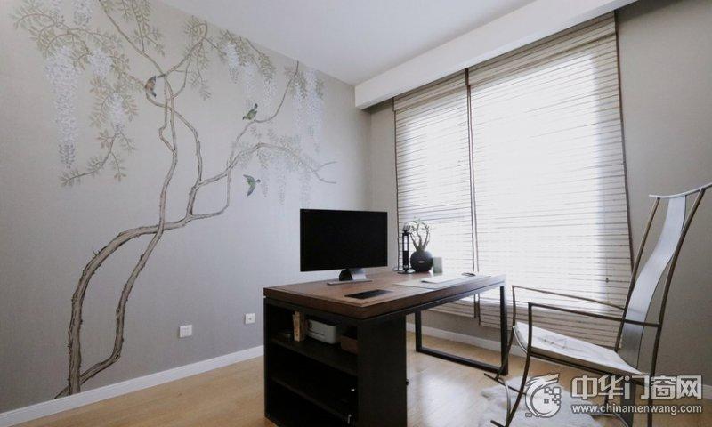 白色室内实木门装修效果图 165平混搭风三居室