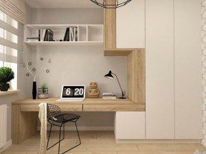 36个极简风格家庭办公室效果图 书房门窗设计图片