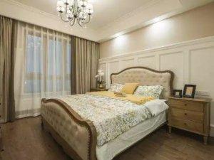 97㎡美式风客厅推拉窗设计图片 两居室装修效果图