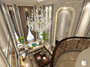 奢华别墅木门装修效果图 白色系墙门设计图片