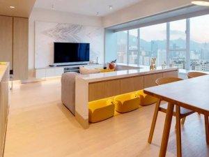 香港89㎡豪宅 简约风门窗环抱180度海港美景!