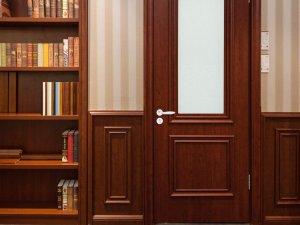 展志天华木门实木复合门玻璃门室内门卧室门定制木门WD-2058DB