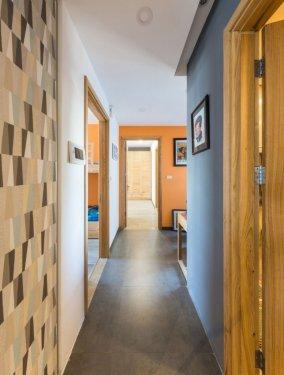 室内套装棕色防盗木门图片 简约卧室木门图片大全