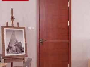 大自然木门幸福美满室内红棕色复合实木门板图片