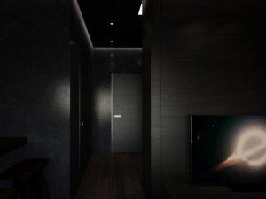 黑色新款实木门图片大全 43㎡入户大门防盗门图片