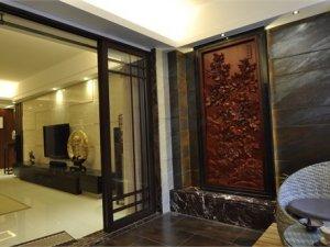 现代中式阳台推拉门图片 室内推拉门图片大全