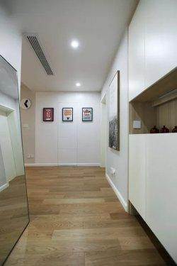 厨房间玻璃门图片 130㎡北欧风推拉玻璃门的图片欣赏