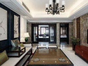 新中式木门框装铝合金门图片大全 推拉黑色铝合金门窗图片