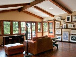 别墅复古阳台门效果图 实木玻璃门图片大全
