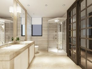 防水卫浴铝合金门图片大全 时尚木门框装铝合金门图片