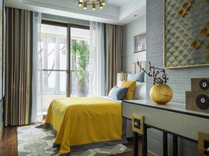 中式香槟色铝合金门图片 摩登铝合金门款式图片