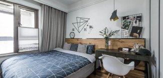 北欧风银白色铝合金门窗图片  卧室高档铝合金门窗图片