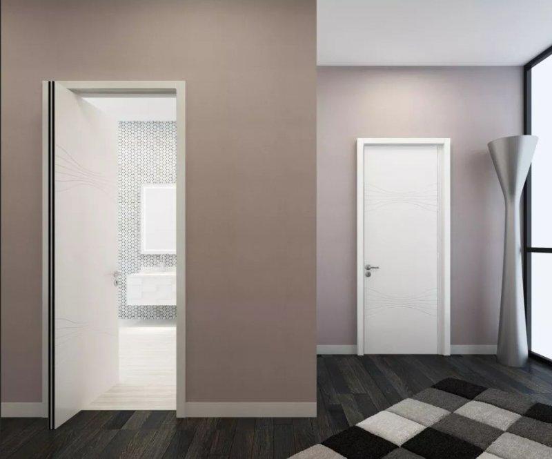 TATA木门简约风格白色室内门展示