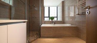 浴室黑色铝合金门窗图片 高端铝合金门窗图片