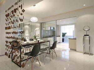 现代简约风铝合金玻璃门双开图片 厨房铝合金门图片大全