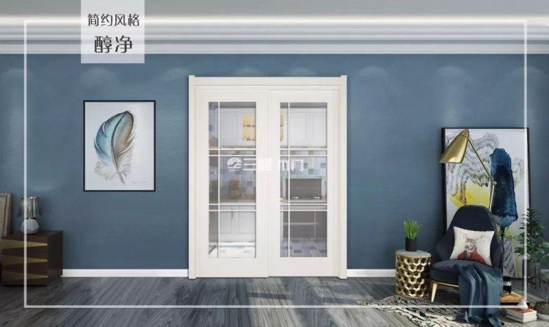 三峰木门全新油漆系列移门图片展示