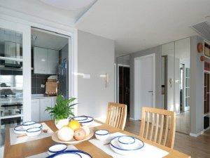 简约风铝合金门图片 餐厅白色铝合金门窗图片