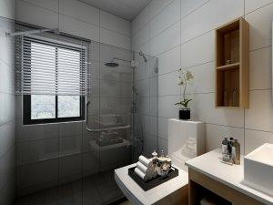 北欧黑色铝合金窗外观图片 卫生间推拉式铝合金窗图片