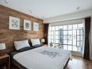 清新白色铝合金门窗图片 日系钛镁铝合金门窗图片