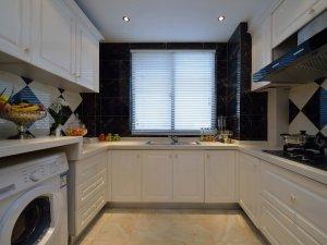 简约黑色铝合金门窗图片 厨房家用铝合金门窗图片