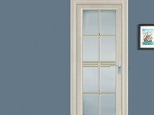 新豪轩门窗平开卫浴铝合金门图片大全 V86