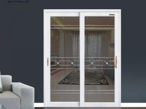 圣堡罗铝合金玻璃门双开图片 LFY002