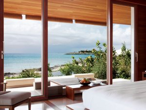 一米阳光 重型提升铝包木门窗图片
