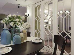 白色铝合金折叠门图片 餐厅美式铝合金门图片大全