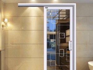 皇派门窗单轨道钛镁铝合金门窗图片 加拿大白橡