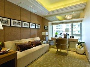书房香槟色铝合金门窗图片 简约不简单