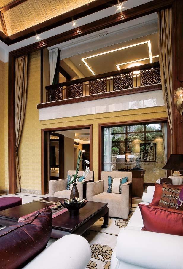 黑色落地?铝合金门入户门图片 打造东南亚异国风情