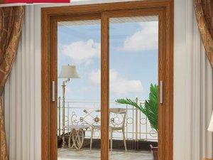 诗尼曼门窗断桥铝合金双开门图片 厨房卫生间室内门