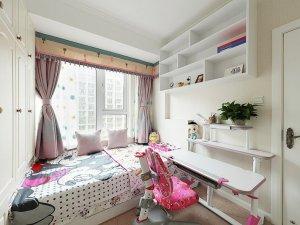 儿童房间型铝合金门窗图片 白色铝合金平开窗图片