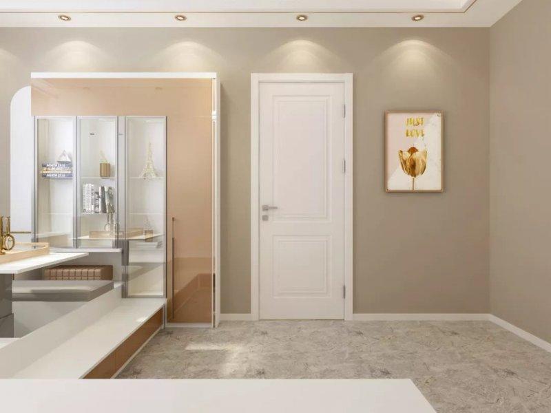 白色木门效果图 轻奢风格卧室门图片