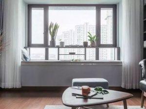 银色平开家用铝合金门窗图片 邻居都说好看