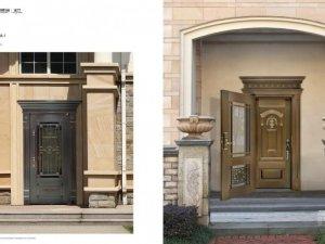 银盾斯金铜门图片 套门效果图