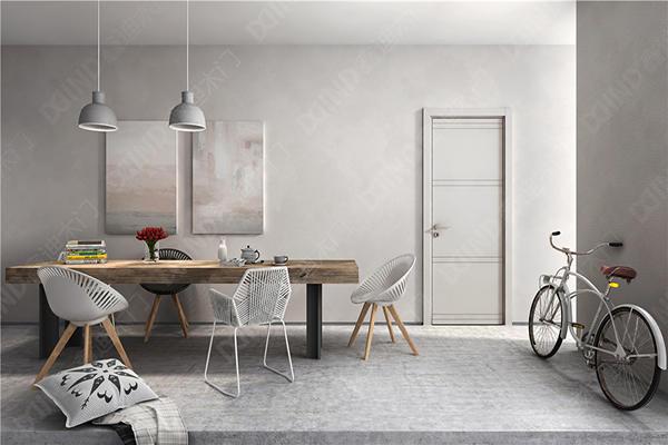 鑫迪木门图片 实木复合烤漆门及钢木门装修效果图